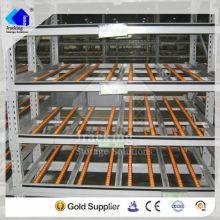 Jracking de alta calidad de almacenamiento fifo Q235 acero utilizado estante plataforma de sistemas de flujo de paletas