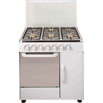 Freestanding gas cooker stove 6 burner with electric oven
