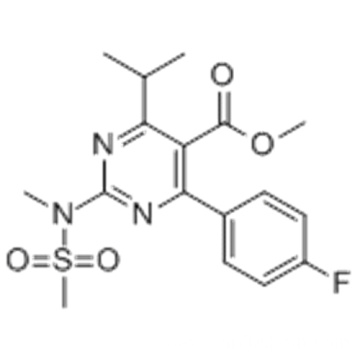 Methyl 4-(4-fluorophenyl)-6-isopropyl-2-[(N-methyl-N-methylsulfonyl)amino]pyrimidine-5-carboxylate CAS 289042-11-1