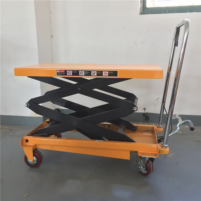 150kg manual lift table