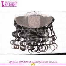 Unprocessed natural color brazilian lace frontal closure 13x4 silk body wave lace frontal