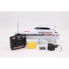 Дешевые Nqd 1/25 белый желтый RC корабль дистанционного управления лодка модель