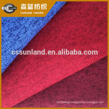 melange look ,yarn dye 100% polyester brushed fleece fabric