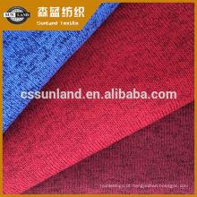 Olhar de melange, tintura de fios 100% poliéster escovado tecido de lã