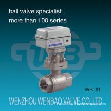 Válvula de bola flotante de acero inoxidable roscada de 2 piezas hembra motorizada eléctrica
