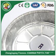 Bandeja de papel de aluminio del envase de comida redondo de calidad superior