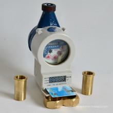 Mètre en laiton Dn15-25 de ménage d'eau de prépaiement de carte d'IC de corps