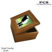 MKY Pets Cremation Raw Bamboo Funeral Box