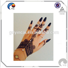 Henna style fake human body art tattoos Mandala Inspired Medallion Temporary Tattoo in good quality