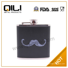 Free shopping leather warpped metal flask wholesale metal flask