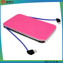 5000mAh Power Bank with Built-in Charging Cable
