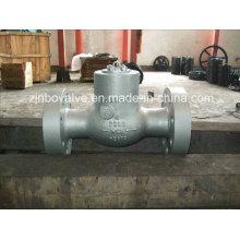 Válvula de retenção de balanço Wc6 flangeada da indústria (H44H)