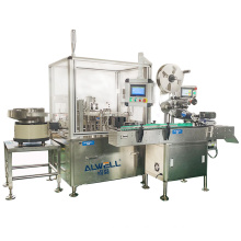Automatic oral liquid 10ml vial small bottle filling capping labeling machine