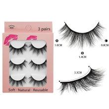 faux mink eyelashes 3d faux mink eyelashes box lashes natural wispy faux lashes wholesale
