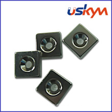 Coating Black Epoxy Block NdFeB Magnets with Countersunk (F-011)