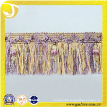 Brush Fringe With Beads , Carpet Decorative brush trim