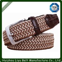Custom Handmade Hommes Stretch Braid Belt For Man Ceintures élastiques Wide Belt Mans Clé sangles sangles
