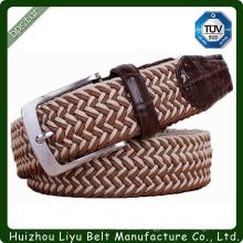 Custom Handmade Men Stretch Braid Belt For Man Elastic Braided Belts Wide Belt Mans Webbing Belt Straps