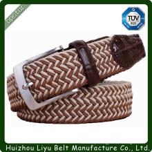 Costume Custom Handmade Stretch Braid Belt For Man Cintas trançadas elásticas Wide Belt Mans Correias de cinto de correia