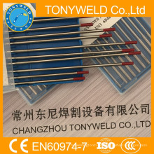 Rojo thoriated 3,2 * 175mm WT20 TIG electrodo de tungsteno
