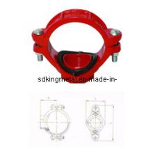 FM / UL Listed Ductile Iron 300psi Gewinde mechanisches T-Stück