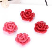 Bricolaje suelta bolas de flor de cabujón lleno