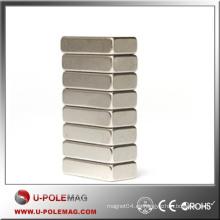 Bloque personalizado imán de neodimio / caliente imán de neodimio Cubo N35 / F100X30X30mm bloque imán de NdFeB