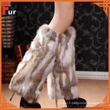Chauffe-jambes 100% en fourrure de lapin