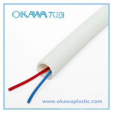 White PVC Corrugated Conduit Hose with TUV Report