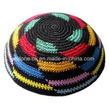 Hand Knitted Kippah Crochet Yarmulke