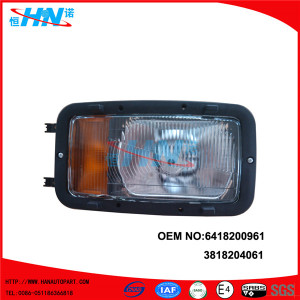 6418200961 Replacement Truck Head Light For Mercedes Benz Cab 641