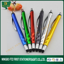 Promotional Giveaways Plastic Rubber Tip Stylus Pen UV Chrome Finish