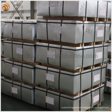 Norma europea EN10212 Bobina de hojalata electrolítica de primera ETP / TFS Hoja de acero sin estaño
