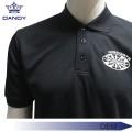 Пустая черная рубашка поло с воротником для мужчин