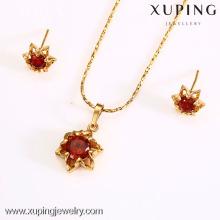 62579-Xuping Hot Jewelry Sets Imitación Joyería de oro de la boda