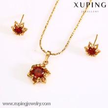 62579-Xuping jóias quentes conjuntos de imitação de jóias de casamento de ouro