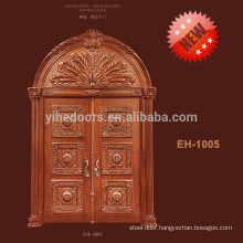 Made In China exquisite solid wood arch door solid wood carved door