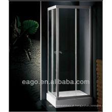 Armação de alumínio de vidro temperado EAGO Chuveiro com bandeja