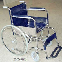 Cheapest steel folding basic wheelchair-U type footrest