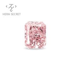ForeverFlame fancy pink Radiant Cut diamond CVD CZ Moissanite