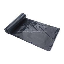 Saco de lixo de polietileno de cor preta