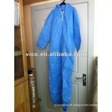 roupas médicas descartáveis