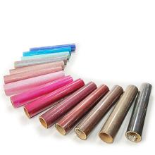 Factory wholesale textile HTV clear glitter flash vinyl heat transfer bundle for T-Shirt