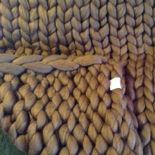 Crochet 100% cotton Chunky Merino Blanket