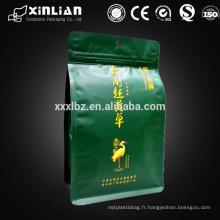 Le papier d'aluminium de qualité supérieure met en vetement la pochette de thé avec ziplock