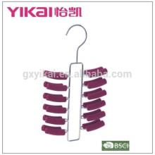 24 racks EVA foam coated padded metal tie hangers