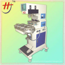 T HP-160BZ precision Pneumatic 2 color plastic cap pad printing machine with conveyor