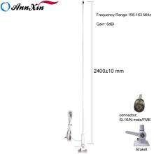 Antena marinha da tevê do satélite do navio de 156-163MHz 6dBi VHF com cabo RG58 5M