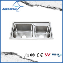 Above Counter Stainless Steel Moduled Kitchen Sink (ACS-7540)