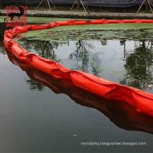 Eco friendly pvc seaweed garbage fence oil boom for keeping oil outs